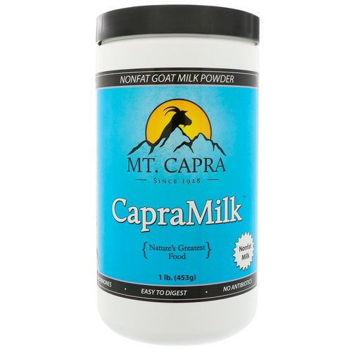 Mt. Capra, CapraMilk, Non-Fat Goat Milk Powder, 1 lb (453 g) Review