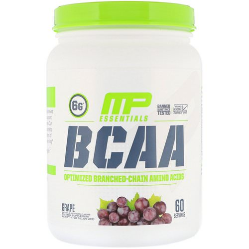 MusclePharm, BCAA Essentials, Grape, 1.04 lb (471.6 g) Review