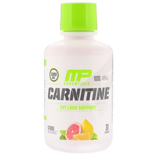 MusclePharm, Carnitine, Fat Loss Support, Citrus, 1000 mg, 16 fl oz (473 ml) Review