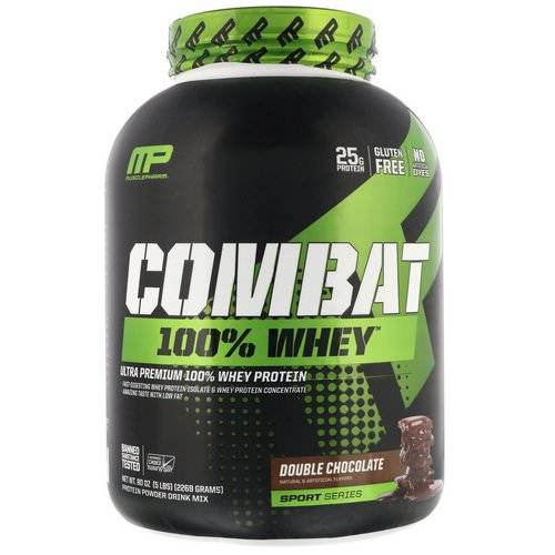 MusclePharm, Combat 100% Whey Protein, Double Chocolate, 5 lbs (2269 g) Review