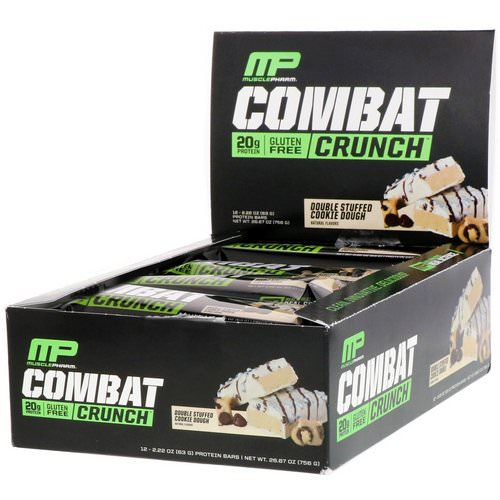 MusclePharm, Combat Crunch, Double Stuffed Cookie Dough, 12 Bars, 2.22 oz (63 g) Each Review