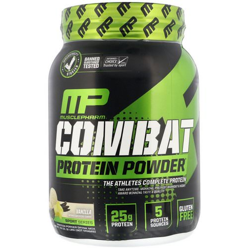MusclePharm, Combat Protein Powder, Vanilla, 2 lbs (907 g) Review