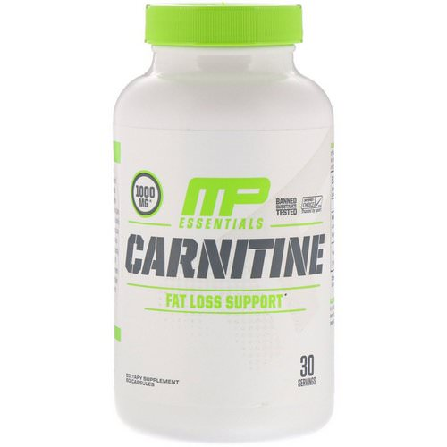 MusclePharm, Carnitine, Fat Loss Support, 60 Capsules Review