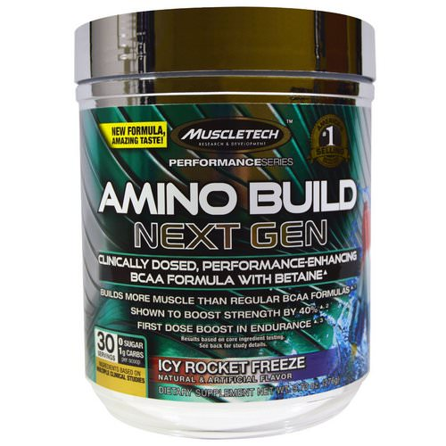 Muscletech, Amino Build, Next Gen BCAA Formula With Betaine Icy Rocket Freeze, 9.73 oz (276 g) Review