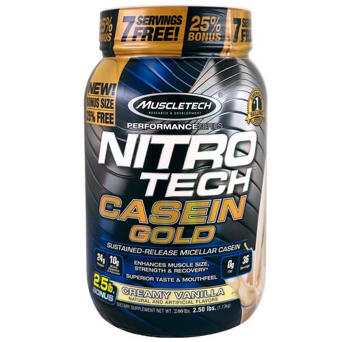 Muscletech, Nitro Tech Casein Gold, Creamy Vanilla, 2.50 lbs (1.13 kg) Review