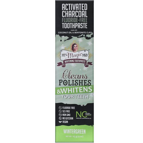 My Magic Mud, Activated Charcoal, Fluoride-Free, Whitening Toothpaste, Wintergreen, 4 oz (113 g) Review