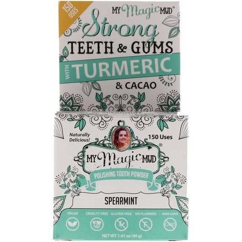 My Magic Mud, Polishing Tooth Powder with Turmeric & Cacao, Spearmint, 1.41 oz (40 g) Review