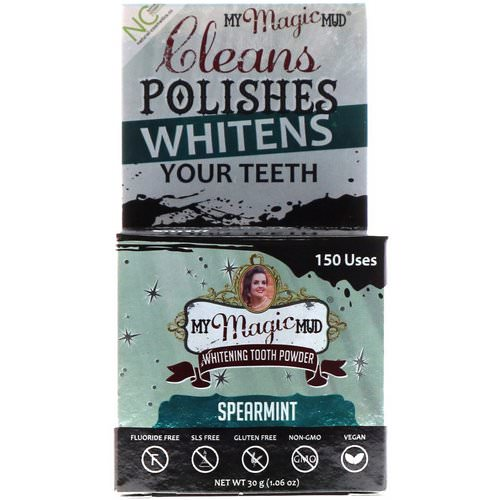 My Magic Mud, Whitening Tooth Powder, Spearmint, 1.06 oz (30 g) Review