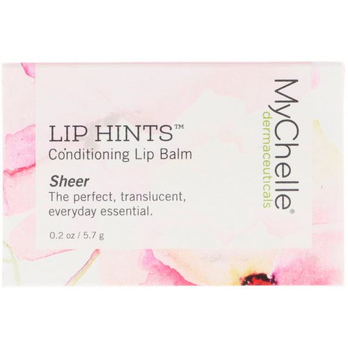 MyChelle Dermaceuticals, Lip Hints Conditioning Lip Balm, Sheer, 0.2 oz (5.7 g) Review