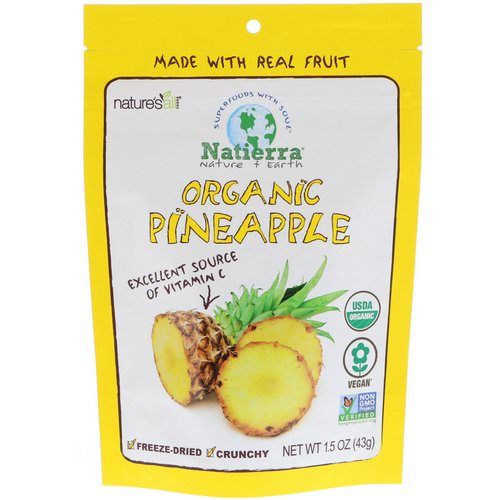 Natierra, Organic Freeze-Dried, Pineapples, 1.5 oz (43 g) Review