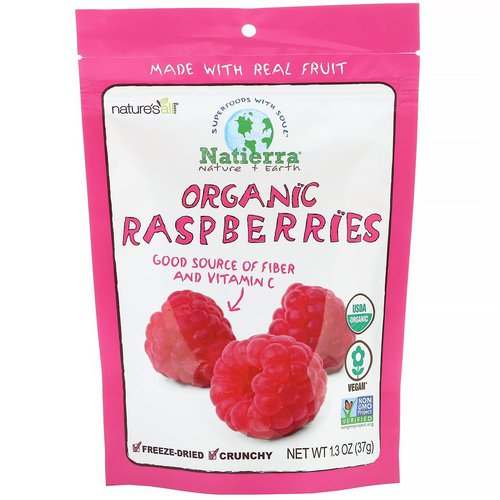Natierra, Organic Freeze-Dried, Raspberries, 1.3 oz (37 g) Review