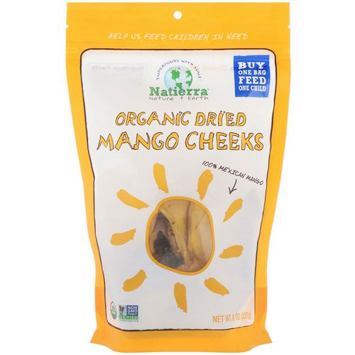 Natierra, Organic Dried, Mango Cheeks, 8 oz (227 g) Review