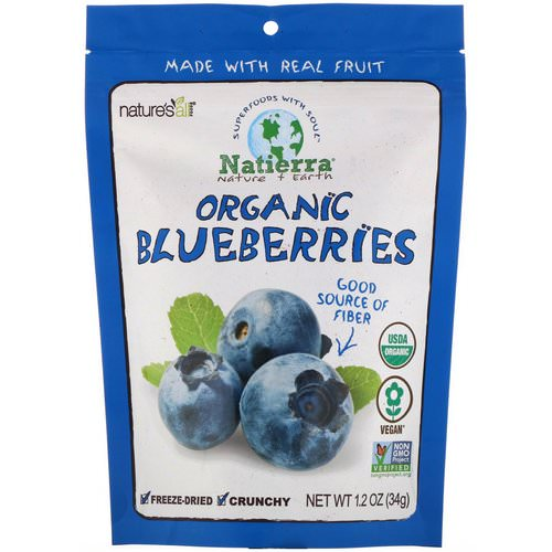 Natierra, Organic Freeze-Dried, Blueberries, 1.2 oz (34 g) Review
