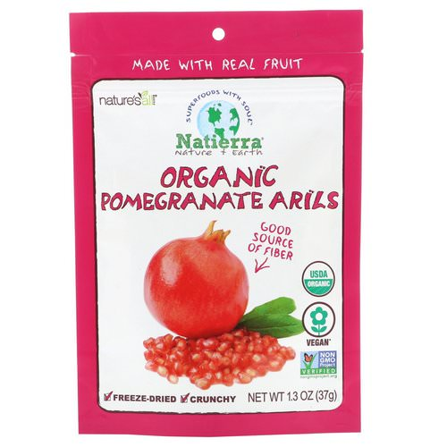Natierra, Organic Freeze-Dried, Pomegranate Arils, 1.3 oz (37 g) Review