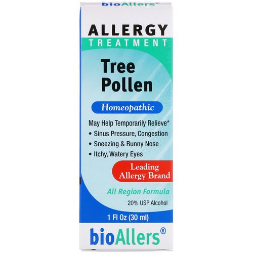NatraBio, BioAllers, Tree Pollen, Allergy Treatment, 1 fl oz (30 ml) Review