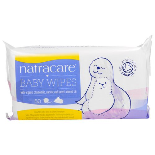 Natracare, Baby Wipes with Organic Chamomile, Apricot and Sweet Almond Oil, 50 Wipes Review