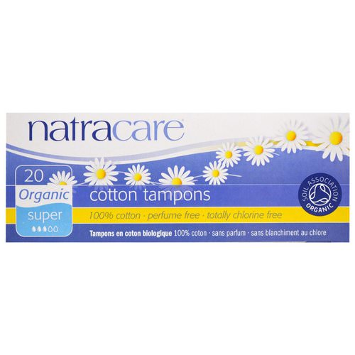 Natracare, Organic Cotton Tampons, Super, 20 Tampons Review