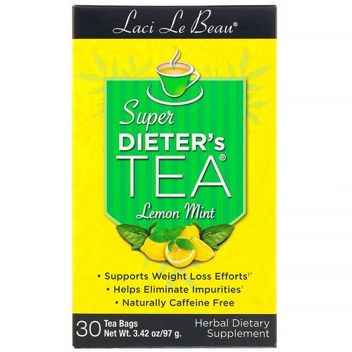 Natrol, Laci Le Beau, Super Dieter's Tea, Lemon Mint, 30 Tea Bags, 2.63 oz (75 g) Review