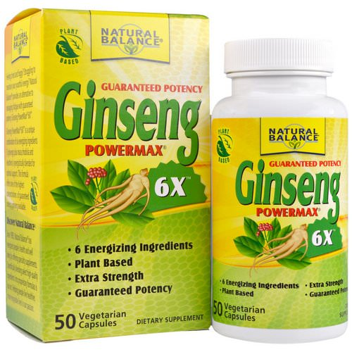 Natural Balance, Ginseng Powermax 6X, 50 Veggie Caps Review