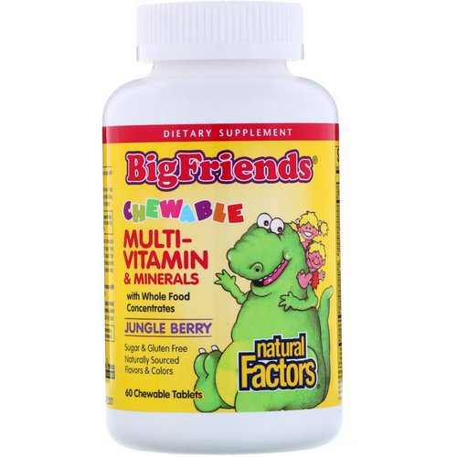 Natural Factors, Big Friends, Chewable Multi-Vitamin & Minerals, Jungle Berry, 60 Chewable Tablets Review