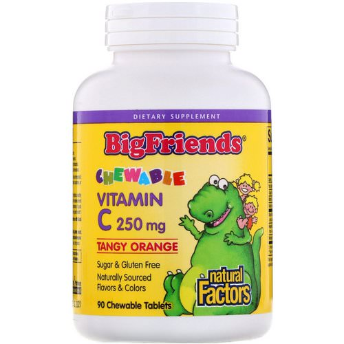 Natural Factors, Big Friends, Chewable Vitamin C, Tangy Orange, 250 mg, 90 Chewable Tablets Review