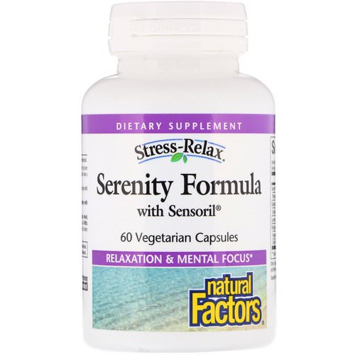 Natural Factors, Stress-Relax, Serenity Formula with Sensoril, 60 Vegetarian Capsules Review
