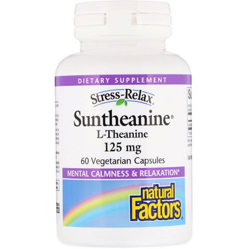 Natural Factors, Stress-Relax, Suntheanine, L-Theanine, 125 mg, 60 Vegetarian Capsules Review