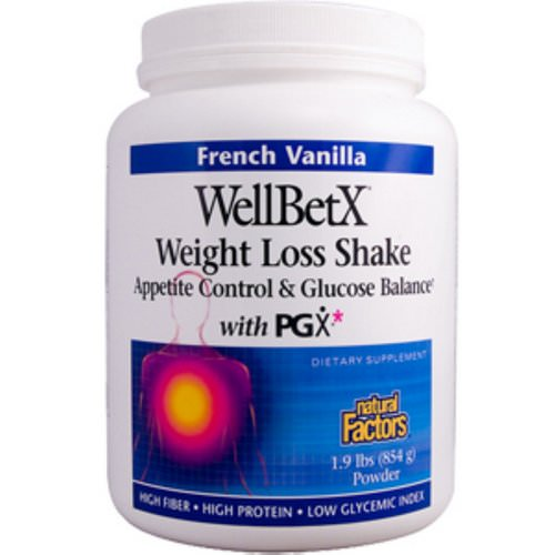 Natural Factors, WellBetX, Weight Loss Shake, French Vanilla, 1.9 lbs (854 g) Review