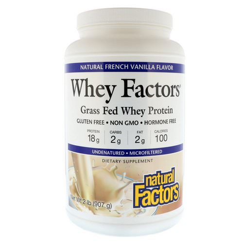 Natural Factors, Whey Factors, Grass Fed Whey Protein, Natural French Vanilla Flavor, 2 lbs (907 g) Review