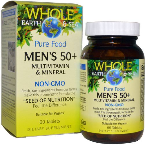 Natural Factors, Whole Earth & Sea, Men's 50+ Multivitamin & Mineral, 60 Tablets Review
