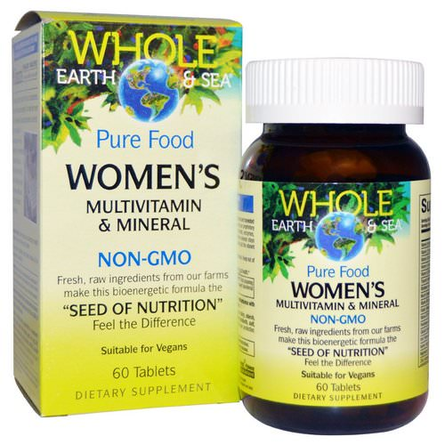 Natural Factors, Whole Earth & Sea, Women's Multivitamin & Mineral, 60 Tablets Review
