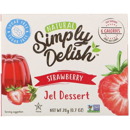 Natural Simply Delish, Natural Jel Dessert, Strawberry, 0.7 oz (20 g) Review