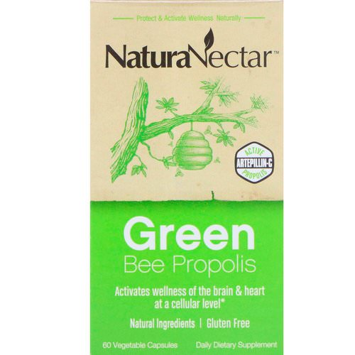 NaturaNectar, Green Bee Propolis, 60 Vegetable Capsules Review