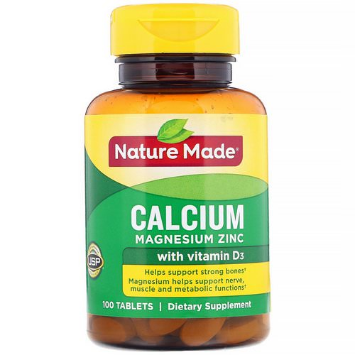 Nature Made, Calcium Magnesium Zinc with Vitamin D3, 100 Tablets Review