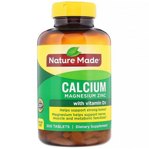 Nature Made, Calcium Magnesium Zinc with Vitamin D3, 300 Tablets Review