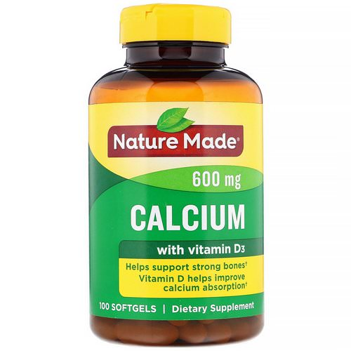 Nature Made, Calcium with Vitamin D3, 600 mg, 100 Softgels Review