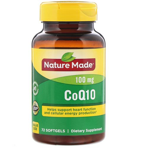 Nature Made, CoQ10, 100 mg, 72 Softgels Review