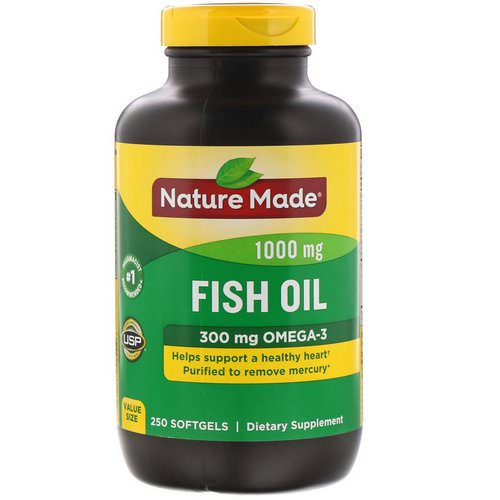 Nature Made, Fish Oil, 1,000 mg, 250 Softgels Review