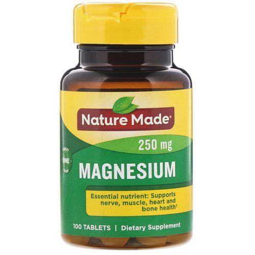 Nature Made, Magnesium, 250 mg, 100 Tablets Review