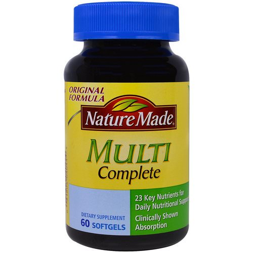 Nature Made, Multi Complete, 60 Softgels Review