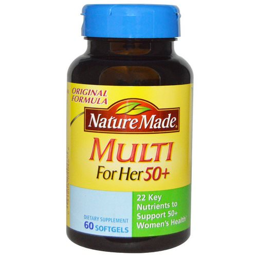 Nature Made, Multi for Her 50+, 60 Softgels Review