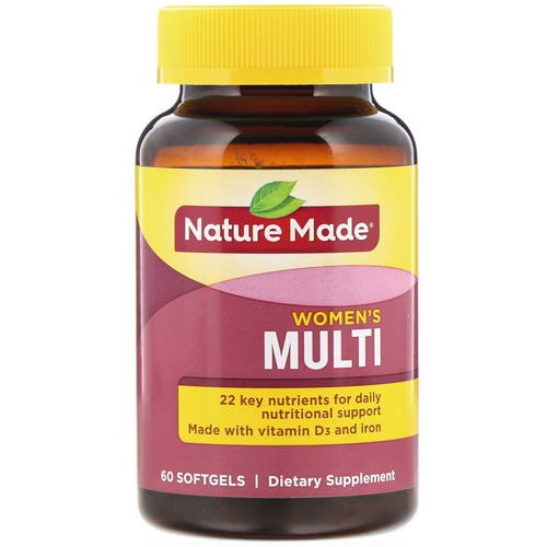 Nature Made, Women's Multi, 60 Softgels Review