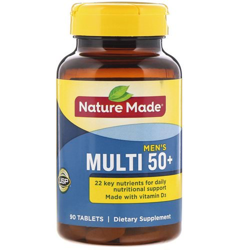 Nature Made, Men's Multi 50+, 90 Tablets Review