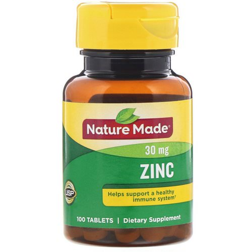 Nature Made, Zinc, 30 mg, 100 Tablets Review
