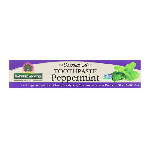 Nature's Answer, Essential Oil Toothpaste, Peppermint, 8 oz Review