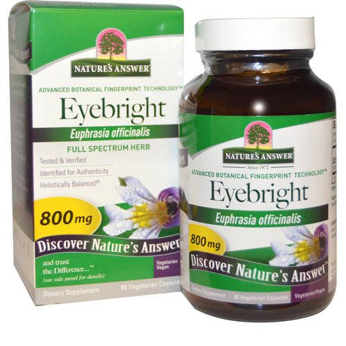 Nature's Answer, Eyebright, 800 mg, 90 Vegetarian Capsules Review