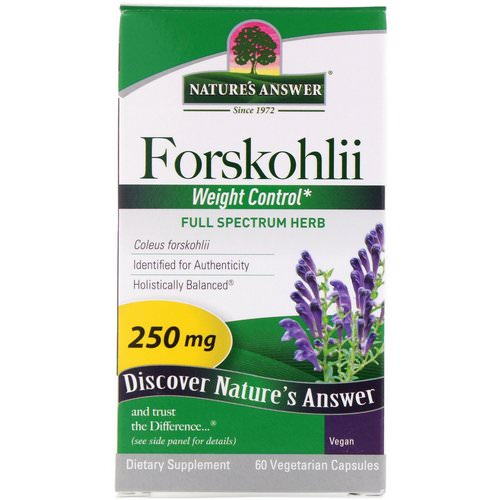 Nature's Answer, Forskohlii, 250 mg, 60 Vegetarian Capsules Review