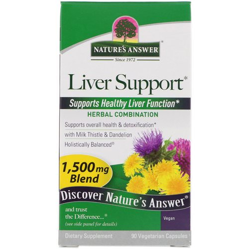 Nature's Answer, Liver Support, 1,500 mcg, 90 Vegetarian Capsules Review