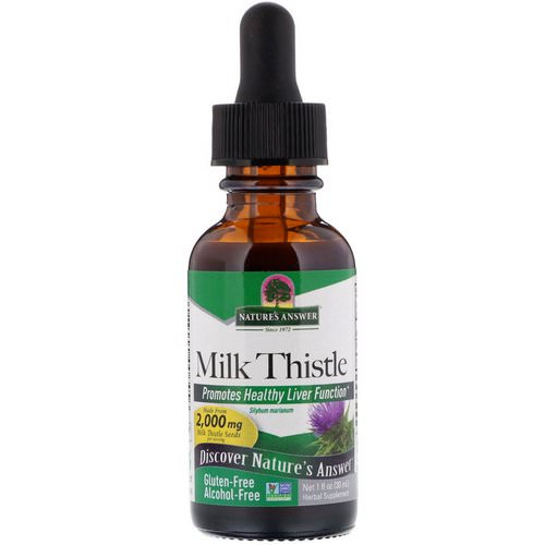 Nature's Answer, Milk Thistle, Alcohol-Free, 2,000 mg, 1 fl oz (30 ml) Review