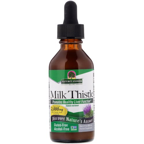 Nature's Answer, Milk Thistle, Alcohol Free, 2,000 mg, 2 fl oz (60 ml) Review